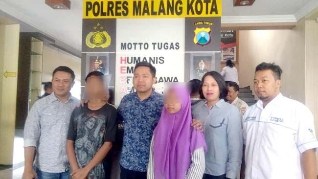 Dua anak bawah umur yang tertipu lowongkan kerja Rabu malam sudah difasilitasi kepulangannya oleh Rekrim Polres Malang Kota. (ist)