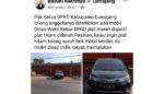Nopol Mobil Dinas DPRD Lumajang Viral, Diduga Nopol Ganda