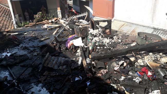 Rumah di Ngaglik, Terbakar, Padat Penduduk, Warga Panik