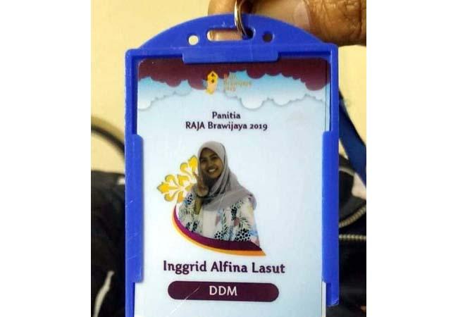 Id Card Panitia Raja UB 2019. (ist)