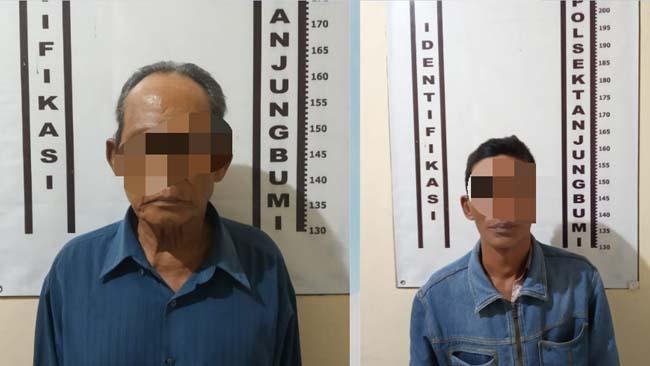 Pelaku perjudian saat dibekuk petugas, Jumat (6/9/2019)