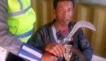 Ewer-ewer Sajam dan Sabu, Pria asal Probolinggo Diciduk Satlantas Polres Pasuruan