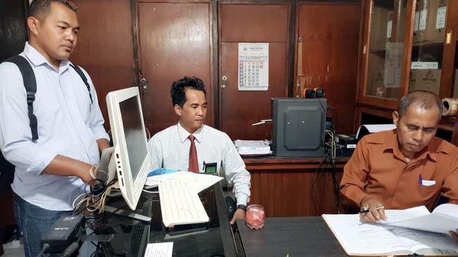 Dahri Abdussalam saat di ruang Penyidik Polres Malang. (Ist)